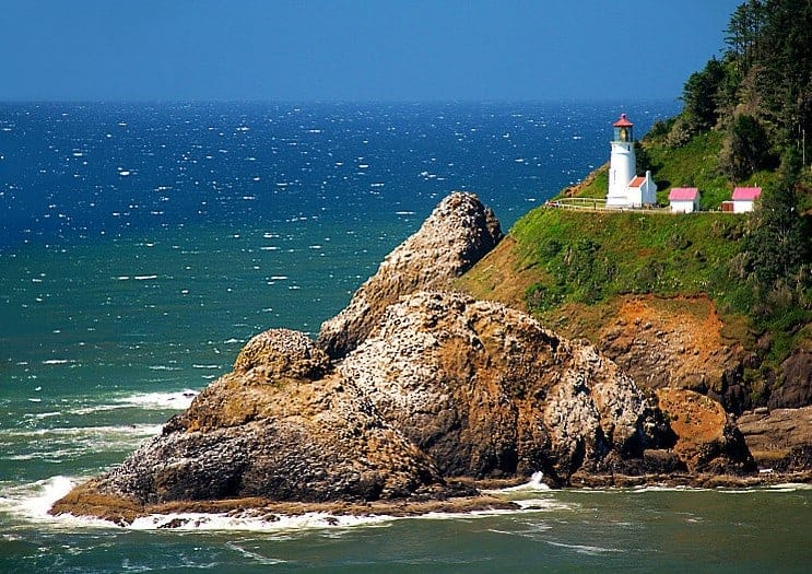 Heceta beautiful lighthouses in the US