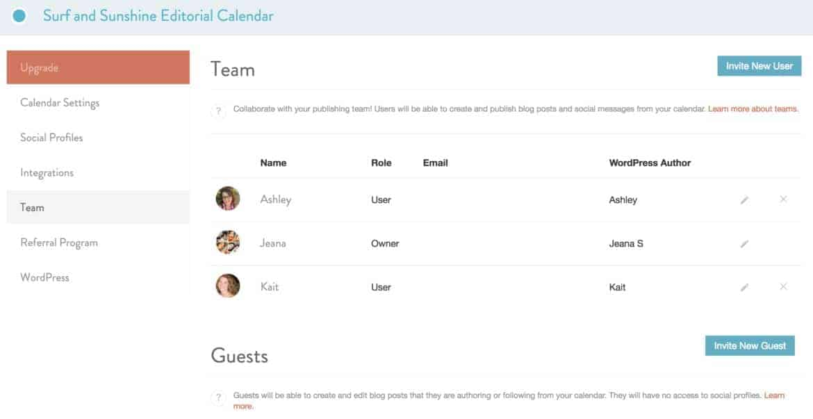 multi author blog manager coschedule