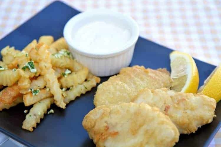 garlic lovers fish and chips recipe