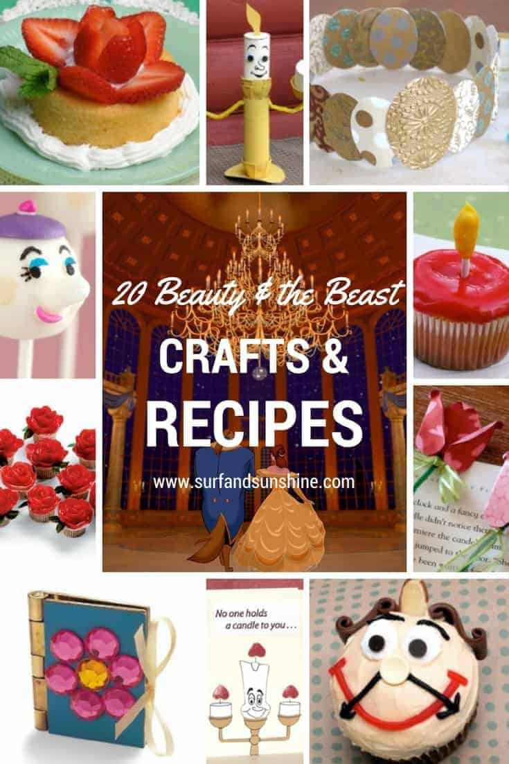 beauty and the beast crafts recipes and activities