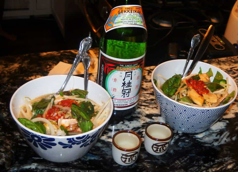 home made pho soup with miracle noodles