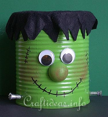 frankenstein recycled can craft