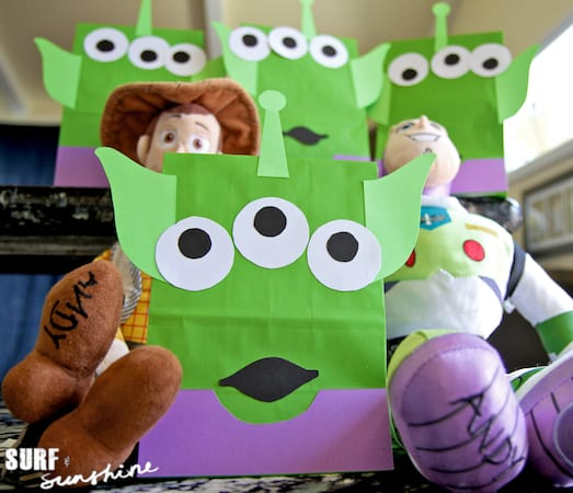 Toy Story Alien Favor Bags Printable Template 4