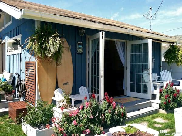 cute beach cottage with french doors