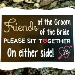 How to Make a DIY Wedding Ceremony Seating Sign