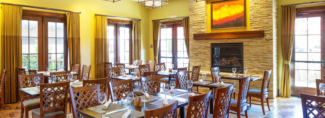 American Craftsman Style Hotel Abrego Monterey CA dining room