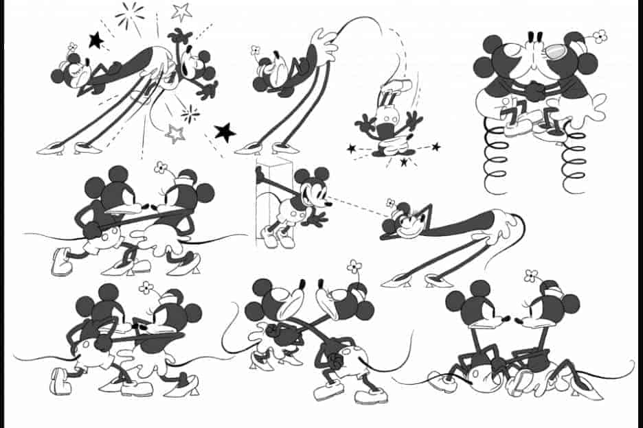 get a horse mickey and minnie model sheet