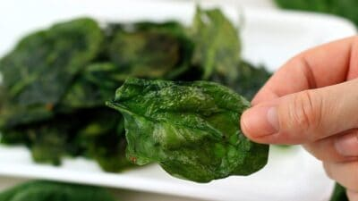 baked spinach chips recipe