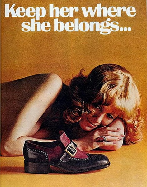 sexist vintage ad keep her where she belongs