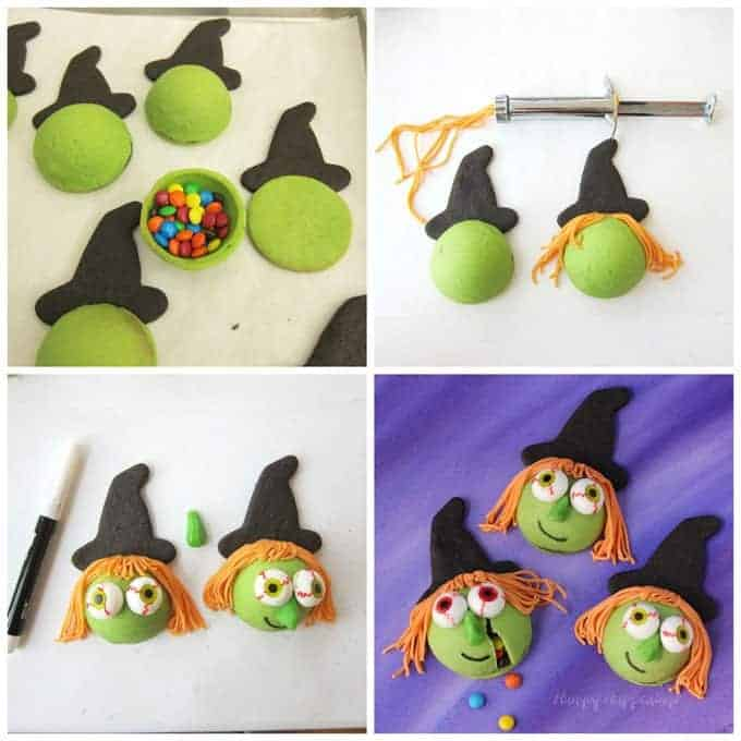 easy to make halloween desserts and treats  candy filled witch cookies