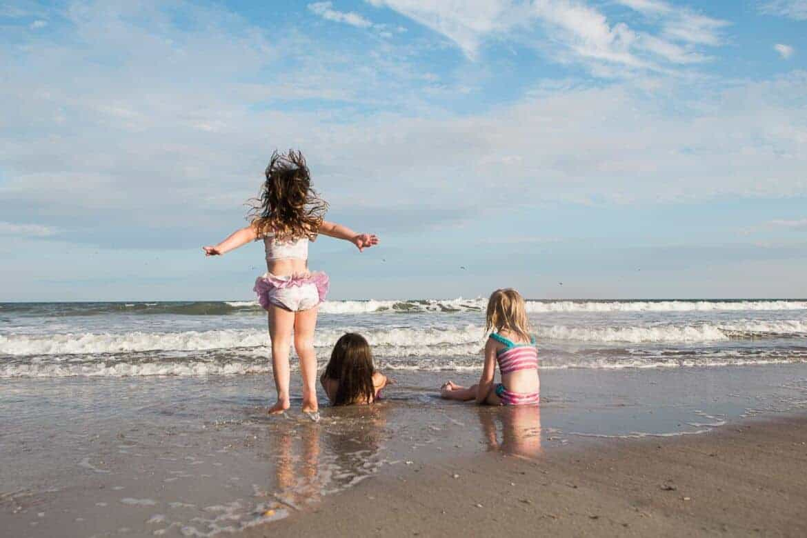 Young girls playing in the ocean on a summer day Summer Emergency Preparedness Kit