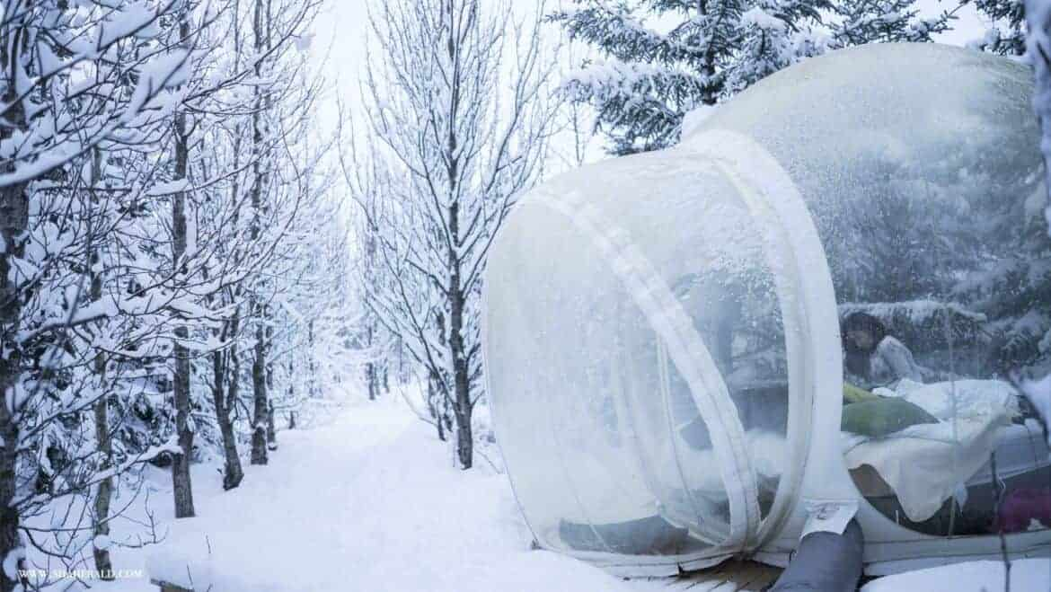 crazy places to stay in iceland bubble hotel iceland