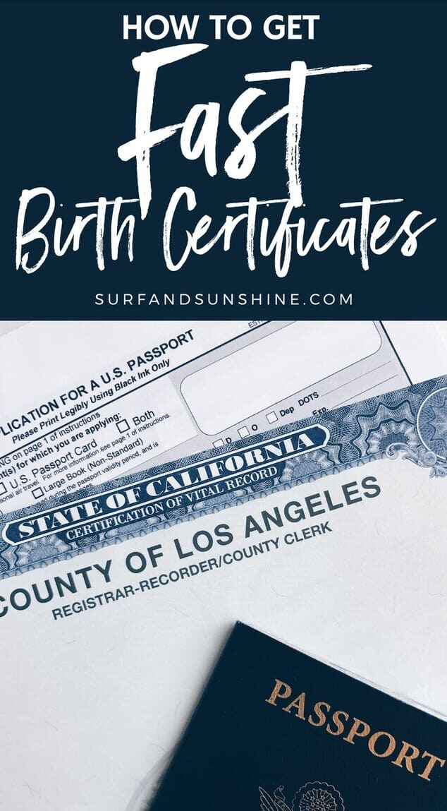 how to get your birth certificate fast