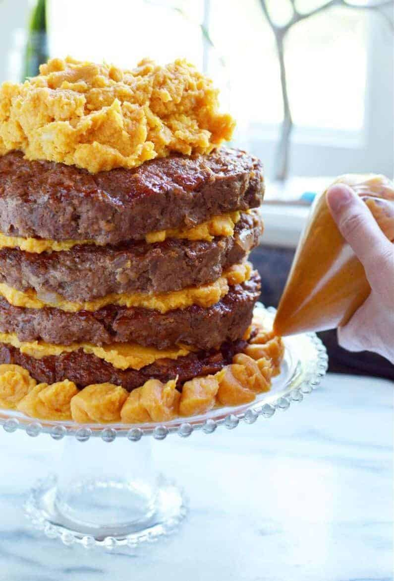 meatloaf cake recipe with sweet potato frosting 5 e1625464584934