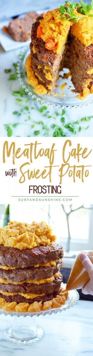 meatloaf cake with sweet potato icing recipe