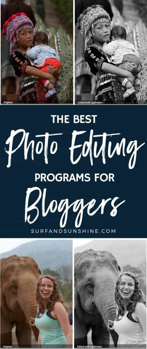 photo editing programs for bloggers