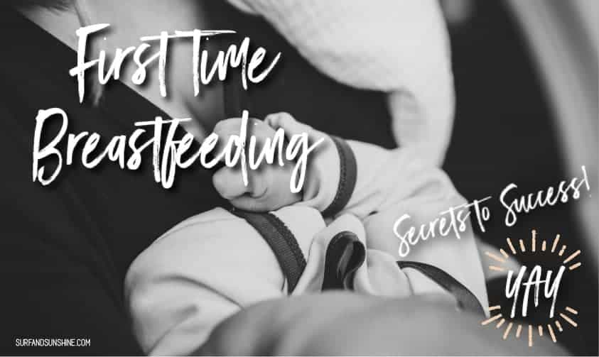 first time breastfeeding