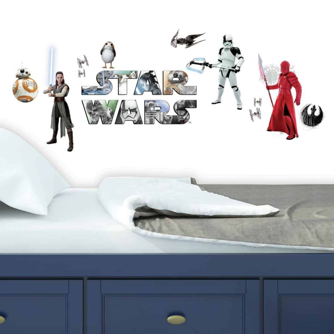 Gift Ideas for Star Wars The Last Jedi Fans episode 8 room decals