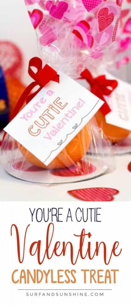 DIY You're a Cutie Candyless Valentine's Day Treat