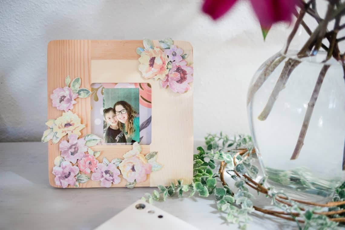 Handmade framed photos of mother and daughter featuring creative way my kid is surviving deployment