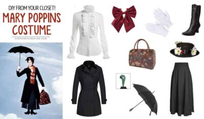 DIY mary poppins costume from your closet