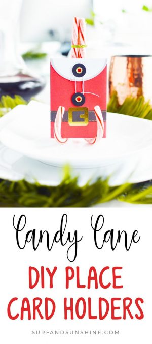 DIY holiday candy can place card holders pinterest
