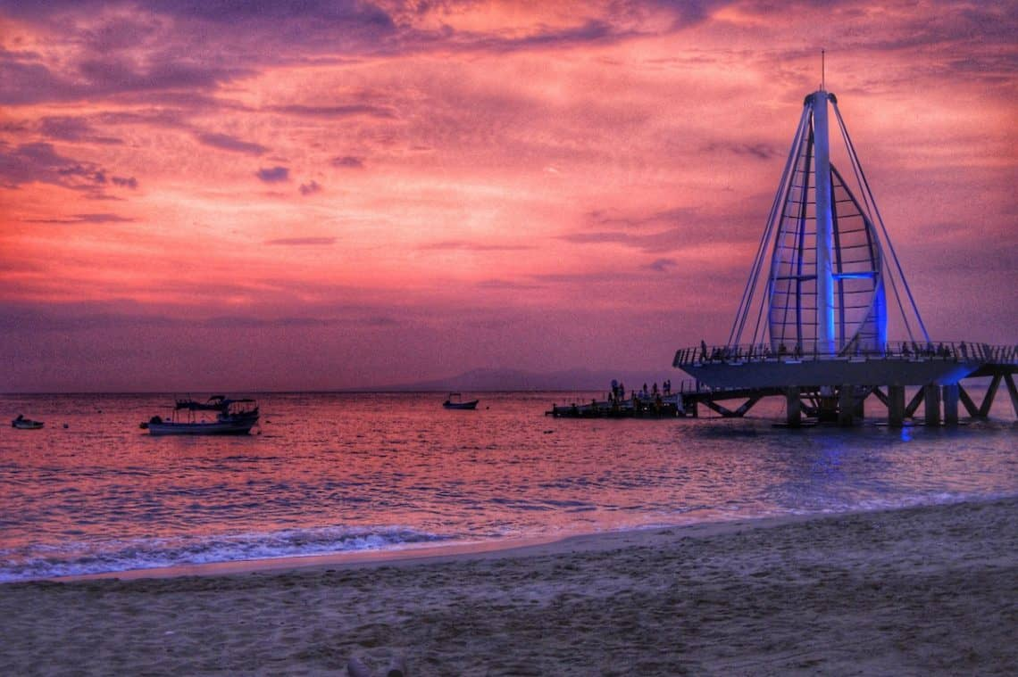 sunset puerto vallarta mexico warm places to visit in december