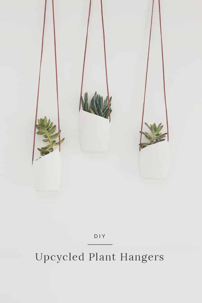 DIY upcycled plant hangers almost makes perfect