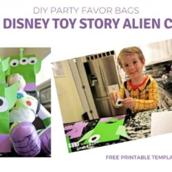 Easy DIY Disney Toy Story Gift Bags: Alien Party Favors