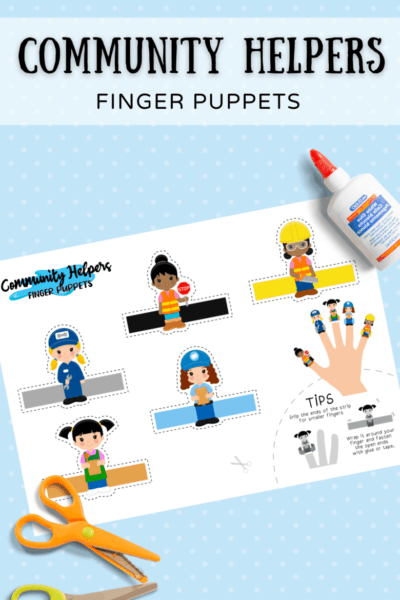 Community Helpers Free Printable Finger Puppets