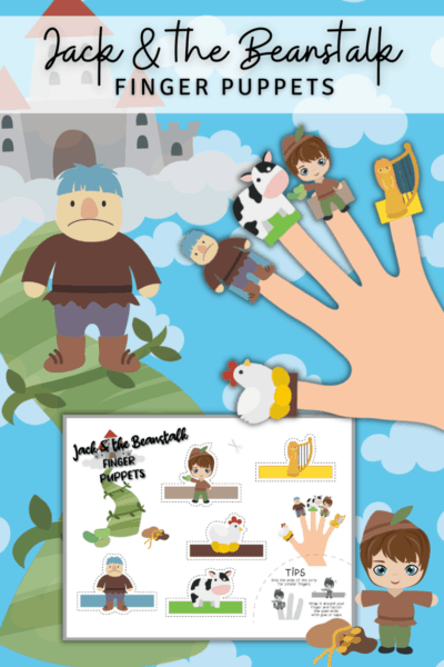 Jack and the Beanstalk Free Printable Finger Puppets