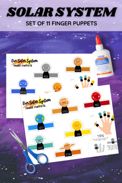 Solar System Planets Free Printable Finger Puppets