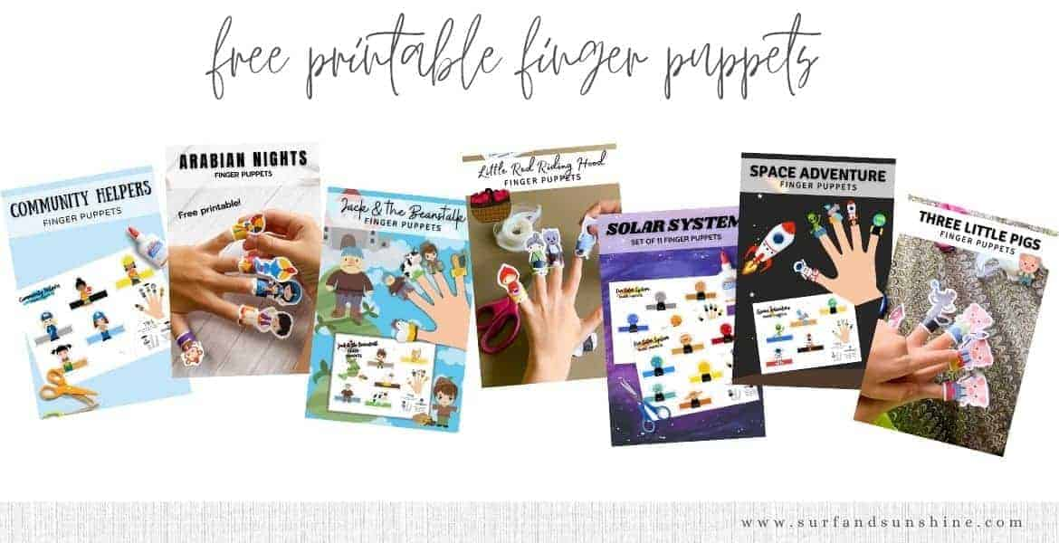free printable finger puppets for kids