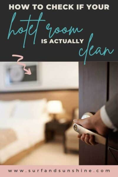 how to check if your hotel room is actually clean