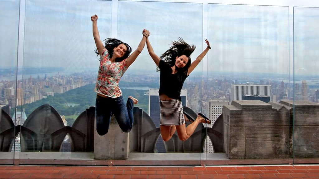 top of the rock jump
