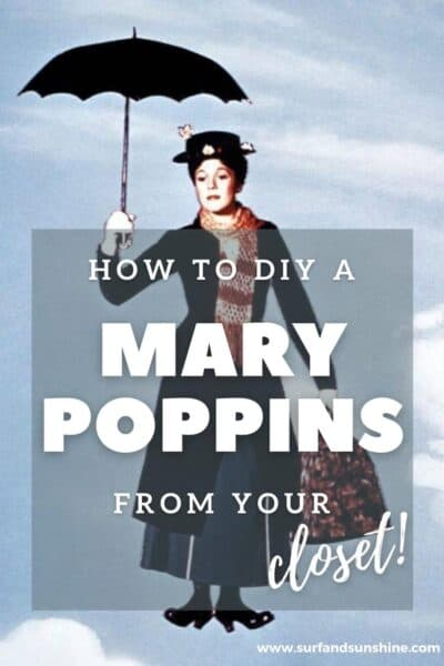 Make Your Own Awesome DIY Mary Poppins Costume Right From Your Closet