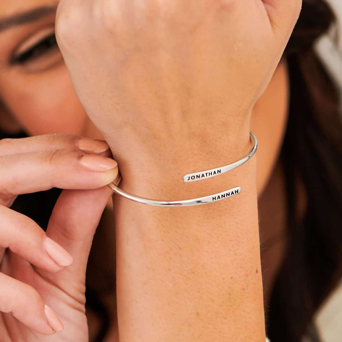 Personalized Adjustable Engraved Cuff Bracelet - Gold or Silver  Hand Crafted Wedding Day Bridal Jewelry Ideas