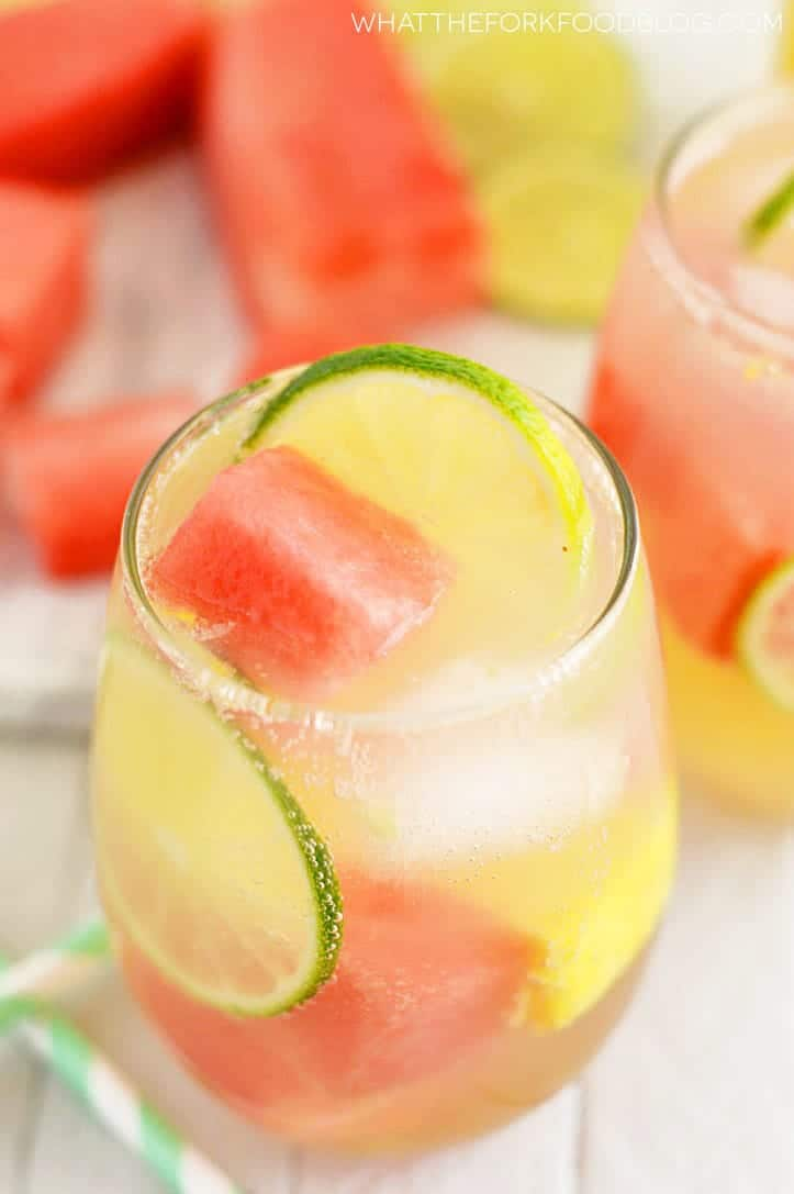 Summer Sangria recipe Watermelon and Pineapple