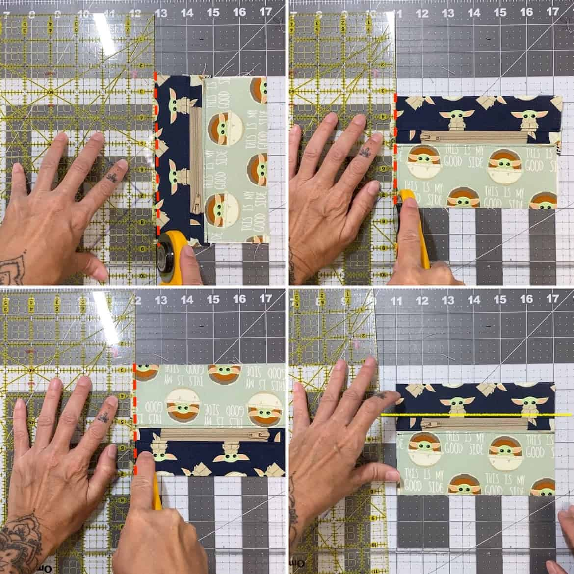 Two Zip DIY Coin Purse Pattern free Sewing Tutorial