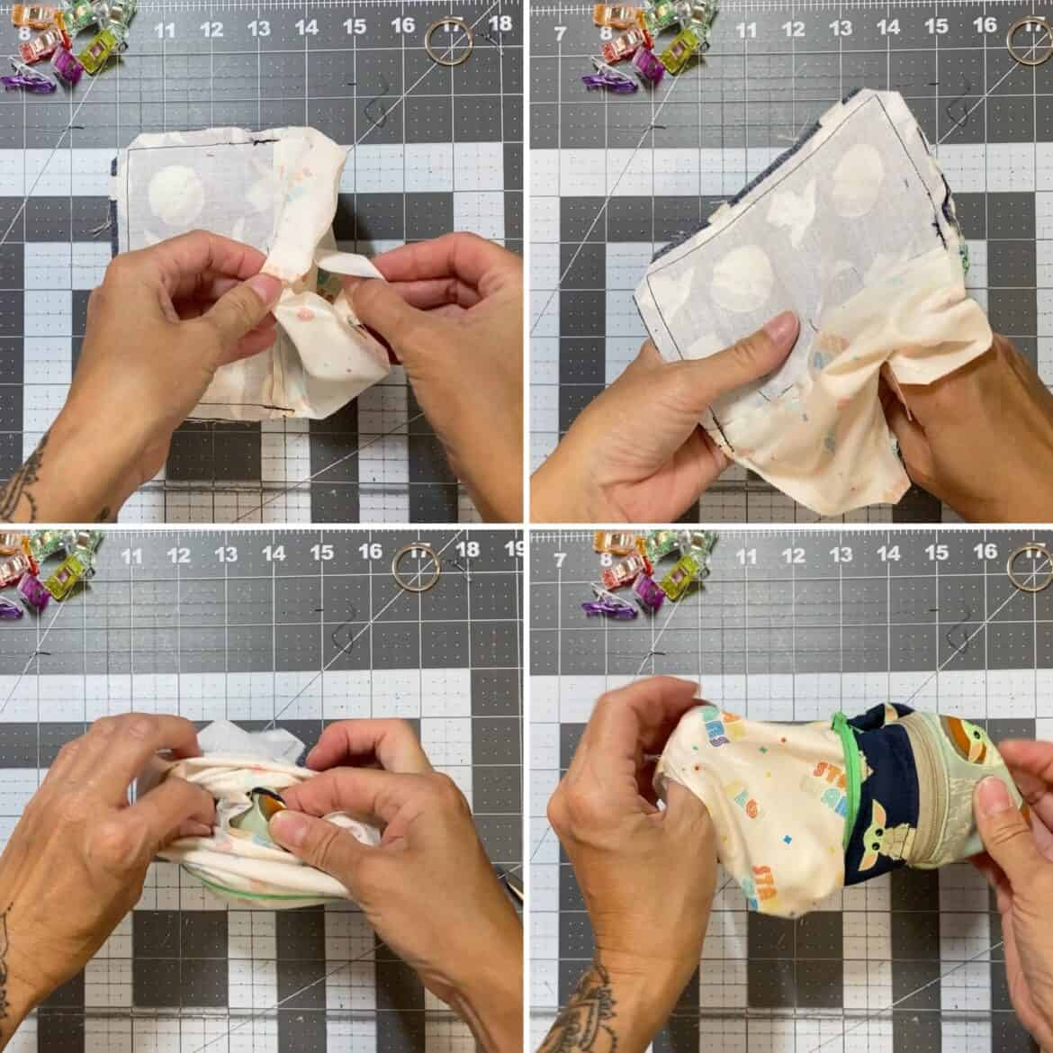 double zipper coin pouch free pattern