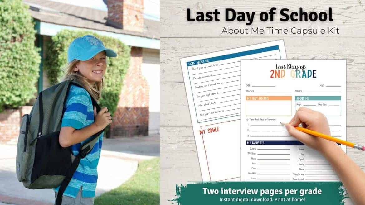 Last Day of School Interview Time Capsule blog graphic