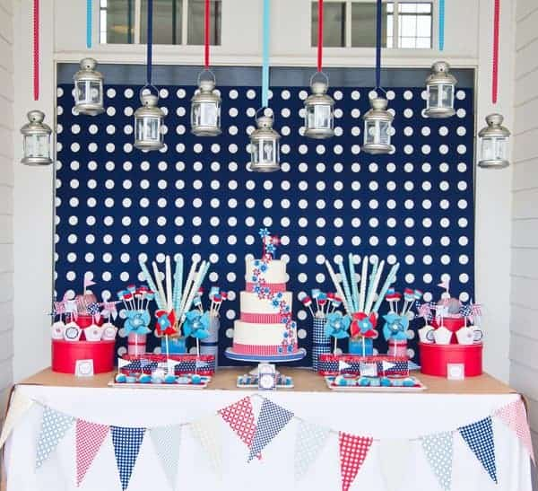 modern fourth of july party decor