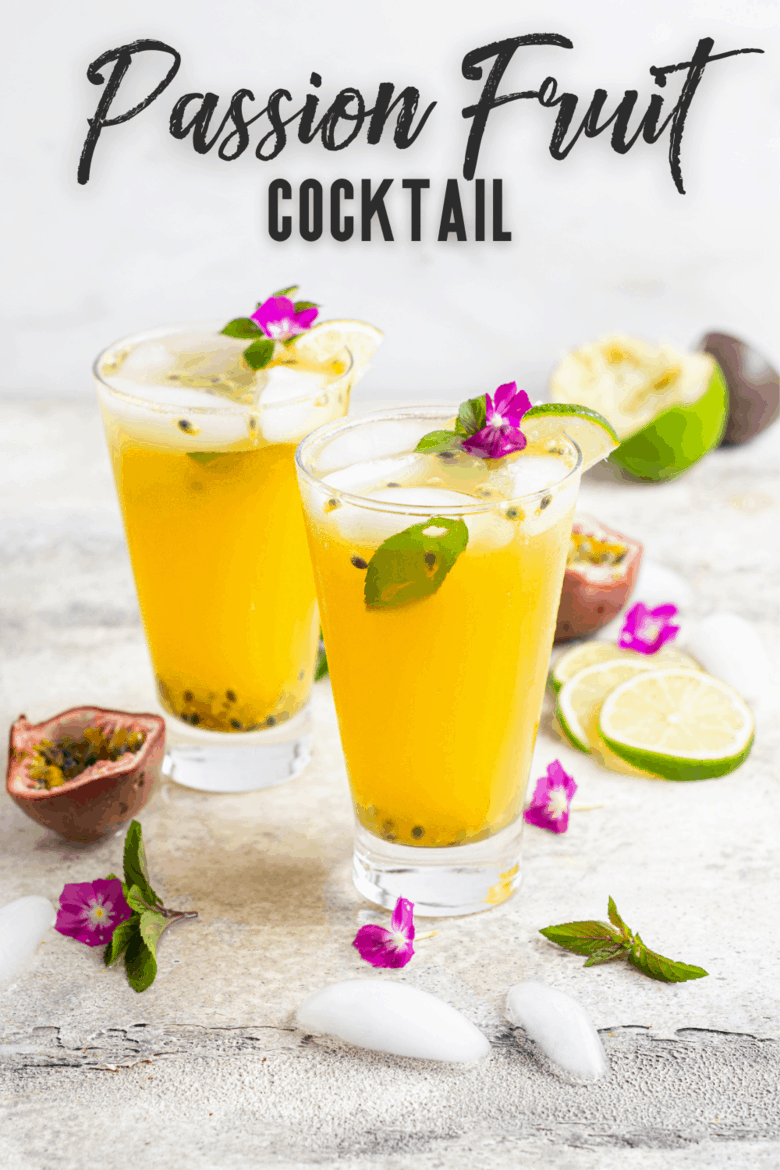 Passion Fruit Cocktail Recipe Pin