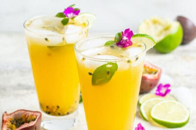passion fruit lime gin summer cocktail-24