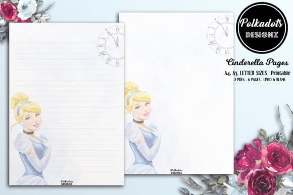 Cinderella Paper Pages Lined Unlined Graphics 6527075 3 580x387 1