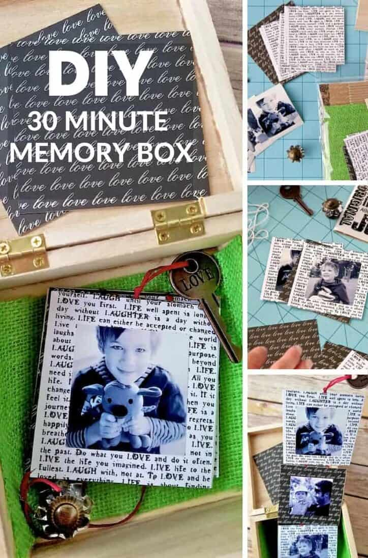 how to make a diy memory box with pull out photos pin