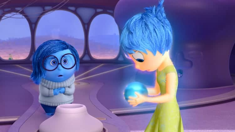Pictured (L-R): Sadness, Joy. ©2015 Disney•Pixar. All Rights Reserved.