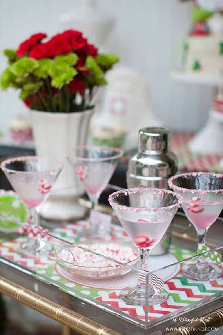 Peppermint Bark Martini Recipe by A Blissful Nest 001