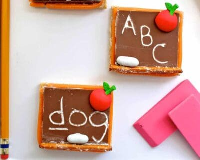 Back to school Chalkboard S'Mores Recipe