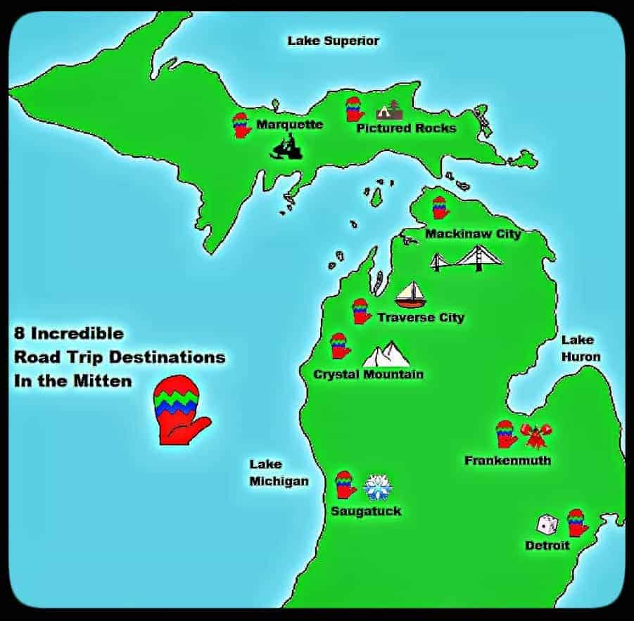 map of places to visit in michigan